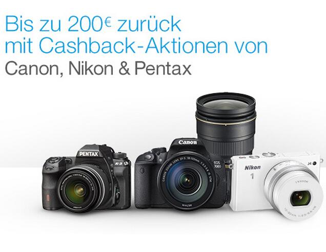 亚马逊各大品牌相机Cashback返现及折扣活动