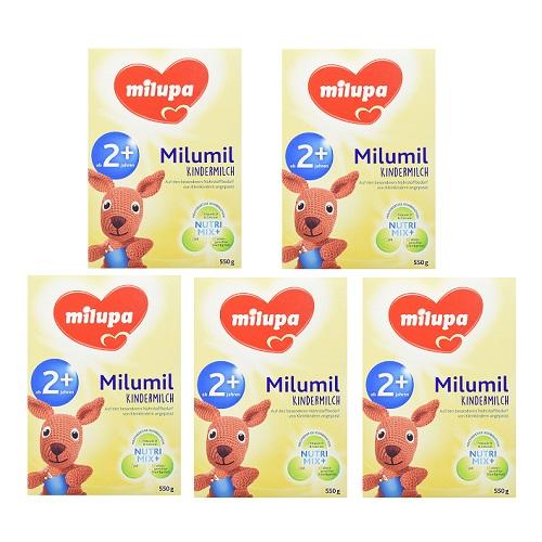 【德国亚马逊直邮中国】爱他美母公司品牌Milupa 美乐宝 milumil奶粉 2+ 2岁以上段 550g*5盒 27.16欧(约209元)