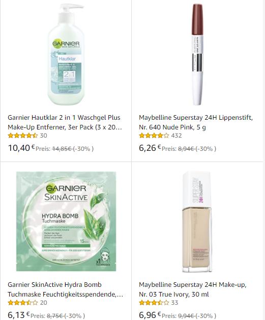 Garnier, L'Oréal, Maybelline
